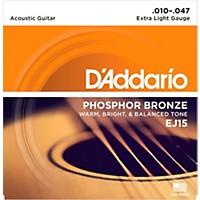 D'addario Ej15 Phosphor Bronze Extra Light  ...