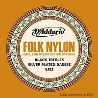 D'addario Ej32 Folk Nylon Silver/Ball End  ...