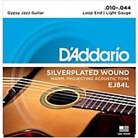 D'addario Ej84l Gypsy Jazz Silver Wound Loop  ...