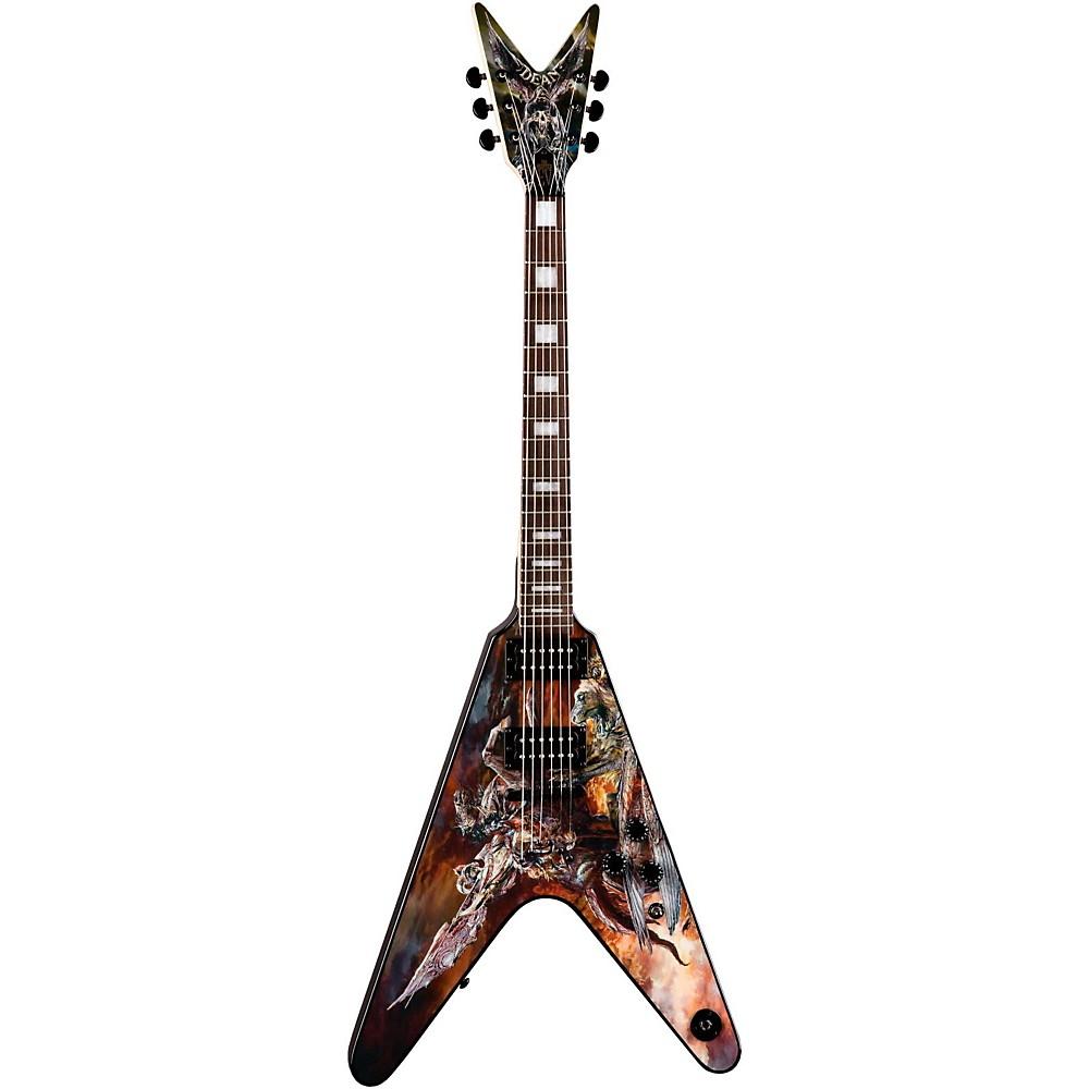 Dean Eric Peterson Hunter V Electric Guitar Custom Graphic 1302124518851