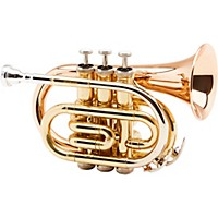 Allora Mxpt-5801 Series Pocket Trumpet Lacquer Rose Brass