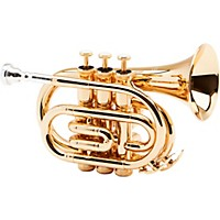Allora Mxpt-5801 Series Pocket Trumpet Gold Plated