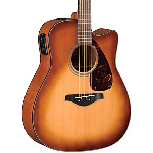 Yamaha Fgx700sc Solid Top Cutaway Acoustic-Electric Guitar Sandburst