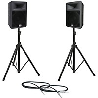 Peavey Pr 12 Speaker Pair With Stands And Cables