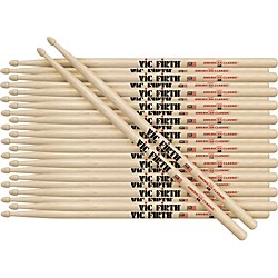 Vic Firth 12-Pair American Classic Hickory Drumsticks Nylon 3A