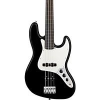 Fender Standard Fretless Jazz Bass Guitar Black Rosewood Fretboard