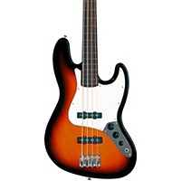 Fender Standard Fretless Jazz Bass Guitar Brown Sunburst Rosewood Fretboard