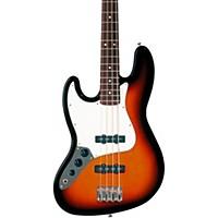 Fender Standard Left-Handed Jazz Bass Guitar With Rosewood Fretboard Brown Sunburst Rosewood Fretboard
