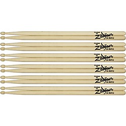 Zildjian Maple Drumsticks 6-Pack Jazz Wood Tip