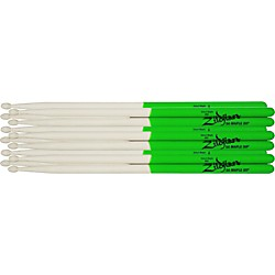Zildjian Maple Green Dip Drumsticks 6-Pack 5B Wood Tip