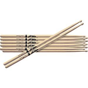 Promark 6-Pair American Hickory Drumsticks Wood 5B