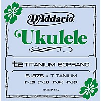 D'addario Ej87s Titanium Sopranto Ukulele  ...