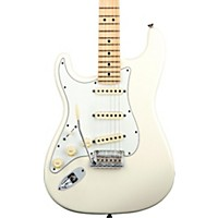Fender American Standard Stratocaster Left-Handed Electric Guitar With Maple Fretboard Olympic White Maple Fingerboard