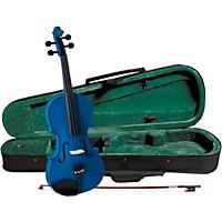 Cremona Sv-75Bu Premier Novice Series Sparkling Blue Violin Outfit 3/4 Outfit