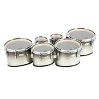 Pearl Maple Carboncore Marching Tenors Sonic Cut (Drums & Spacers Only) Black Silver Burst 6,6,10,12,13,14
