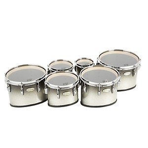 Pearl Maple Carboncore Marching Tenors Sonic Cut (Drums & Spacers Only) Black Silver Burst 6,8,10,12,13,14