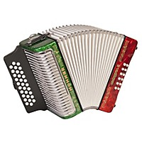 Hohner Corona Ii 3500 Adg Accordion Pearl Red