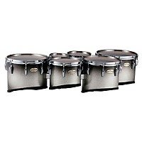 Pearl Maple Carbon Core Marching Tenors Shallow Cut Sextet Set (Drums & Spacers Only) Black Silver Burst 6,8,10,12,13,14