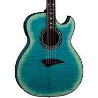 Dean Exhibition Flame Maple Acoustic-Electric Guitar With Aphex Faded Denim