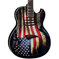 Dean Dave Mustaine Mako Glory Acoustic-Electric Guitar Flag Graphic