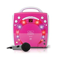The Singing Machine Portable Cd & Graphics Karaoke System Pink