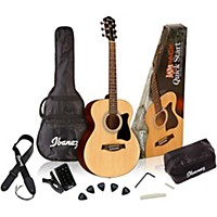 Ibanez Ijvc50 Jampack Grand Concert Acoustic Guitar Pack Natural