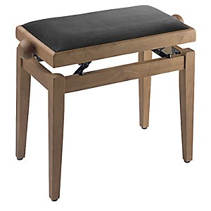 Musician's Gear Adjustable-Height Piano Bench Black Velvet Top Maple Matt