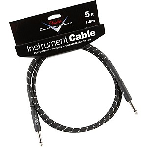 Fender Custom Shop Performance Series Instrument Cable Black Tweed 5 Ft.