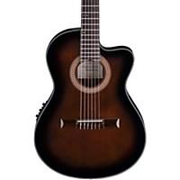 Ibanez Ga35 Thinline Acoustic-Electric Classical Guitar Dark Violin Burst