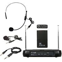 Galaxy Audio Triple Play Diversity Vhf Wireless Belt Pack System Freq Code V54