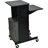 H. Wilson Adjustable Height Presentation Station With Locking Cabinet
