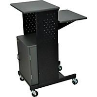 H. Wilson Adjustable Height Presentation Station With Locking Cabinet