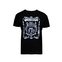 Orange Amplifiers Crest T-Shirt Black Small