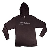 Zildjian Long Sleeve Hooded Shirt, Black  Large
