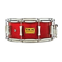 Pork Pie Little Squealer Birch/Mahogany Shell Snare Drum High Gloss Black Cherry Lacquer With Chrome Hardware 14 X 6.5 In.
