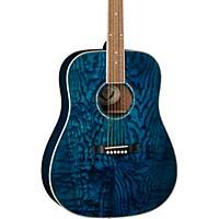 Dean Axs Dread Quilt Acoustic Guitar Transparent Blue