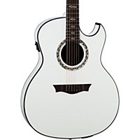 Dean Exhibition Ultra Classic Black Acoustic-Electric W/Usb Classic White