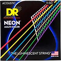 Dr Strings Hi-Def Neon Multi-Color Coated  ...