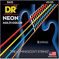 Dr Strings Hi-Def Neon Multi-Color Coated Medium 5-String Bass Strings