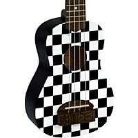 Kohala Tiki Soprano Ukulele Checker Board