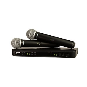 Shure Blx288/Pg58 Dual-Channel Wireless System With 2 Pg58 Handheld Transmitters Band M15