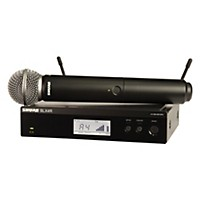 Shure Blx24r/Sm58 Wireless System With Rackmountable Receiver And Sm58 Microphone Capsule Band H8