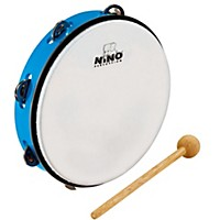 Nino Abs Tambourine W/Single Row Of Jingles Sky Blue 10 In.