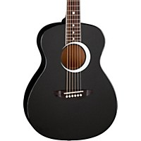 Luna Guitars Aurora Borealis 3/4 Size Acoustic Guitar Black Sparkle