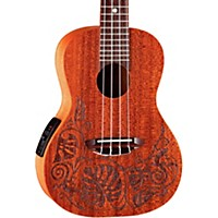Luna Guitars Mo'o Concert Acoustic-Electric Ukulele Lizard Mahogany