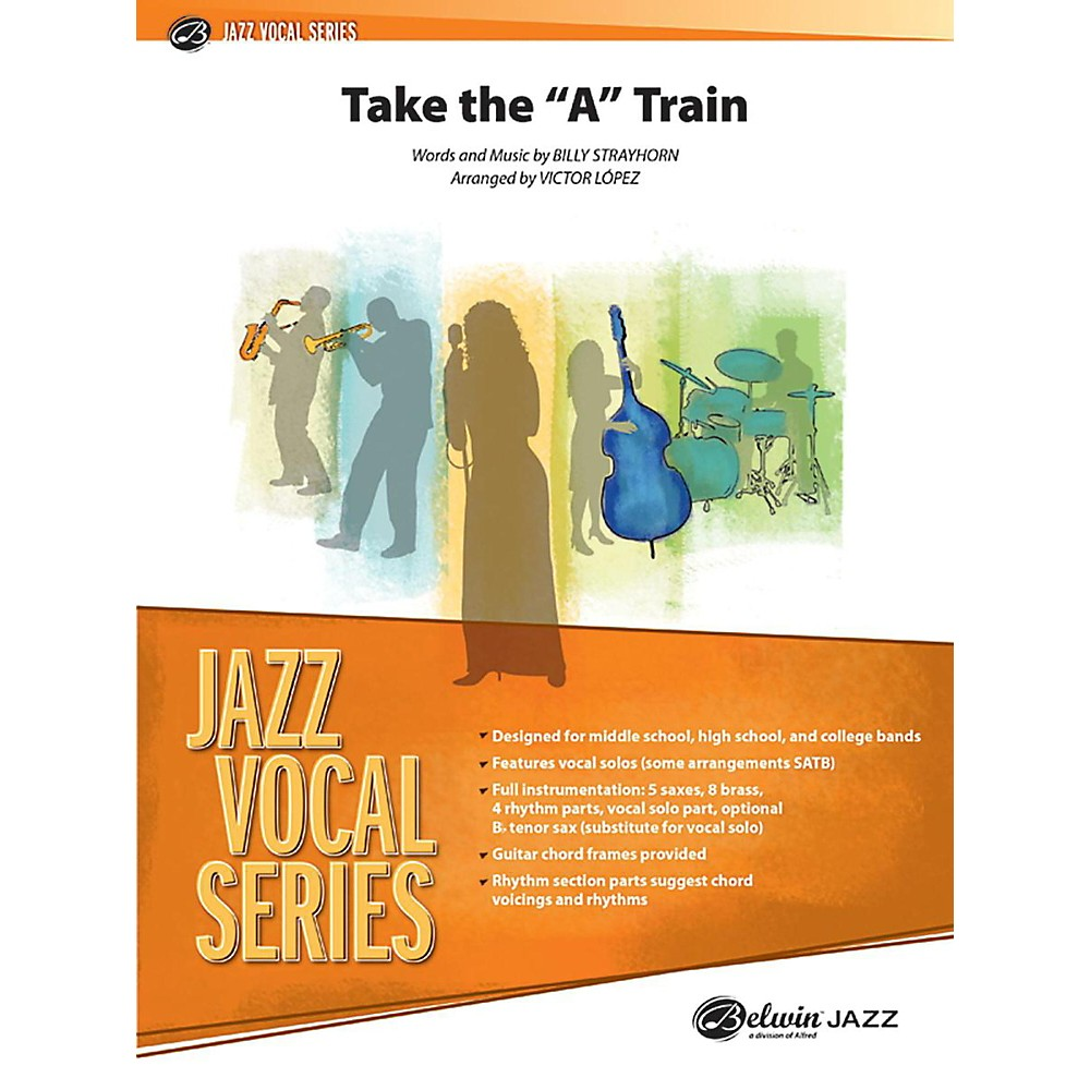 """Alfred Take The """"""""A"""""""" Train Jazz Vocal Band Grade 2.5 Set"""" 1366643217986"""