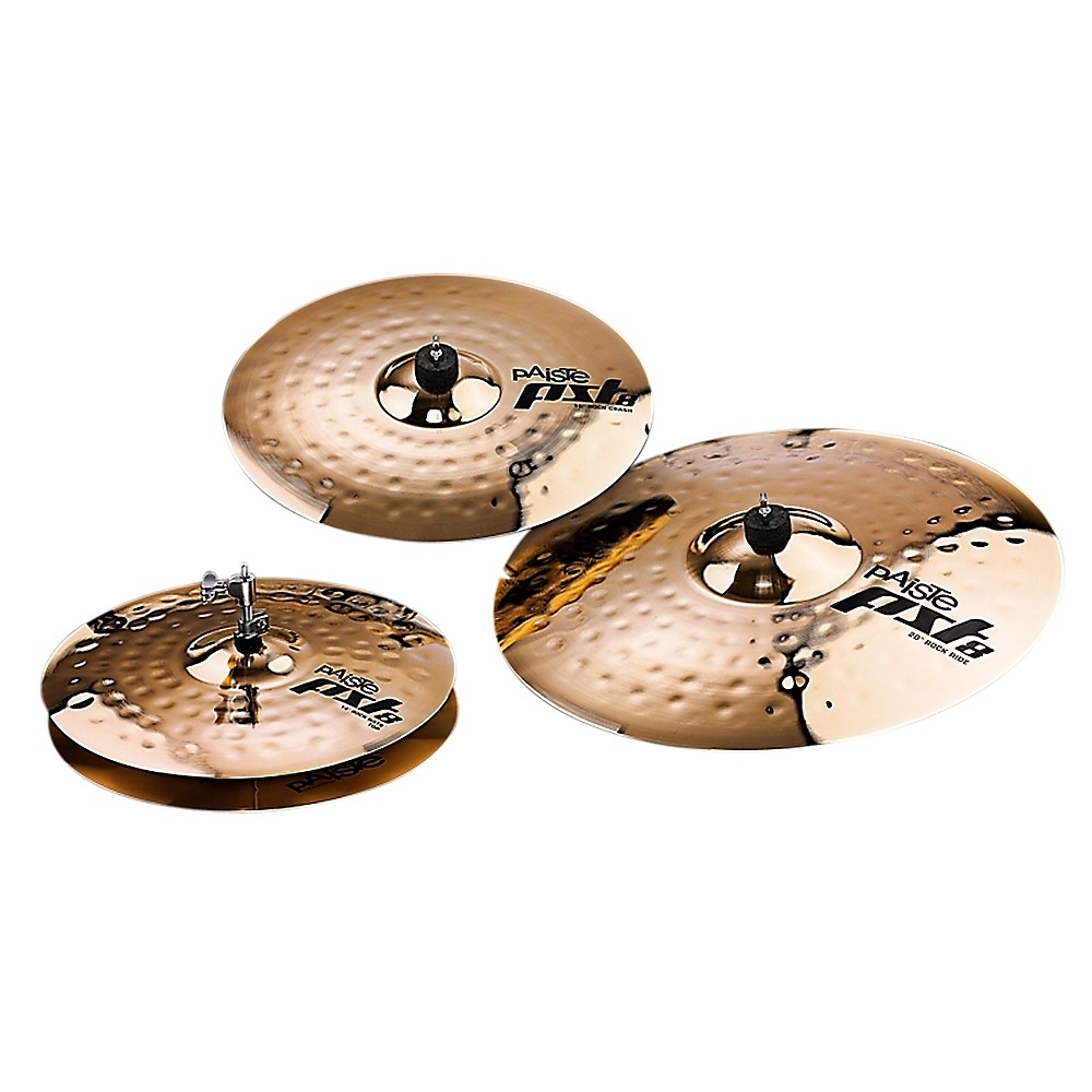 Paiste Pst 8 Reflector Rock Set 14, 16 And 20 In. 1369150601291