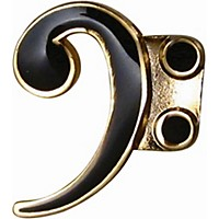 Aim Pin Bass Clef Black
