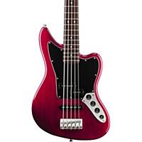 Squier Vintage Modified Jaguar Bass V Special Transparent Crimson Red