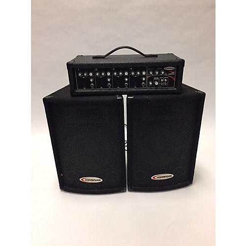 Harbinger HA60 Portable PA With Speakers Sound Package